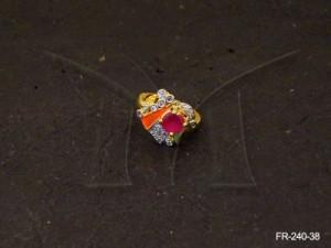 Ad Jewellery , Triangular Cross Ad Finger Rings | Manek Ratna