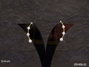 Ad Jewellery , Triplet Star Ad Earrings | Manek Ratna