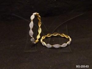 Ad Jewellery , Twisted Curled Ad Bangles | Manek Ratna