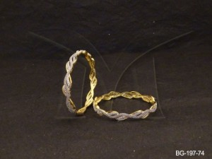 Ad Jewellery , Twisted Snake Style Delicate Ad Bangles | Manek Ratna