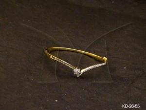 Ad Jewellery , V Shape Delicate Ad Kada | Manek Ratna