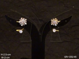Ad Jewellery , Flower Star Spring Style Ad Earring | Manek Ratna
