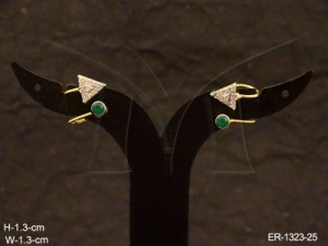 Ad Jewellery , Triangle End Style Ad Kanful Earring | Manek Ratna