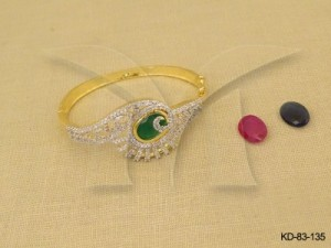 Ad Jewellery , Oval Winged Style Party Wear  Ad Kada | Manek Ratna