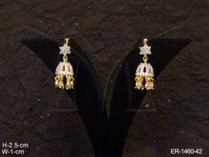 Ad Jewellery , Star Hold Bell Drop Ad Earrings | Manek Ratna