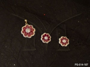 Ad Jewellery , Flower Style Tv Serial Ad Pendant Sets | Manek Ratna