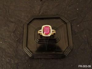 Ad Jewellery , Coukor Nagina Bordered Ad Finger Rings | Manek Ratna