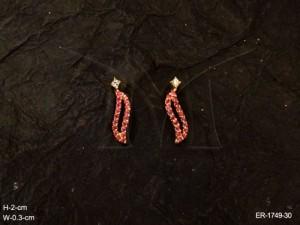 Ad Jewellery , Crawling Snail Style Party Wear Ad Earrings | Manek Ratna