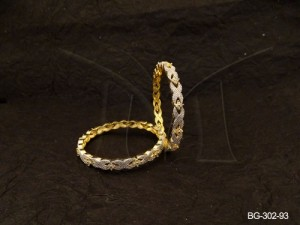 Ad Jewellery , Cross Style Curved Party Wear Ad Bangles | Manek Ratna