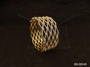 Ad Jewellery , Cross Textured Broad Bollywood Ad Bangles | Manek Ratna