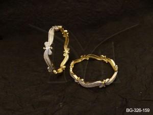 Ad Jewellery , Curvy Koyari Style Ad Bangles | Manek Ratna
