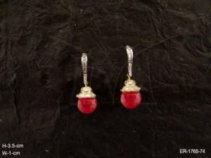 Ad Jewellery , Delicate Hold Moti Drop Ad Bangles | Manek Ratna