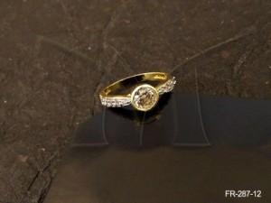 Ad Jewellery , Delicate Round Center Moti Ad Finger Rings | Manek Ratna