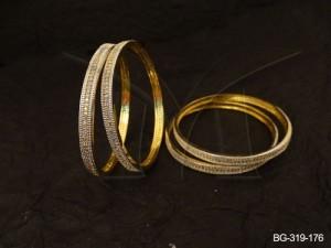 Ad Jewellery , Delicate Small Textured Ad Bangles | Manek Ratna