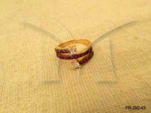 Ad Jewellery , Finger Wrap Twisted Curl Ended Ad Finger  | Manek Ratna