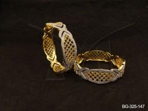 Ad Jewellery , Fish Eye Style Ad Bangles | Manek Ratna