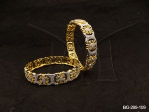 Ad Jewellery , Flower Polo Designed Celebrity Ad Bangles | Manek Ratna