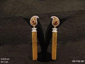 Ad Jewellery , Kairi Hold Chain Drop Ad Earrings | Manek Ratna