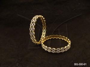 Ad Jewellery , Layered Paan Style Party Wear Ad Bangles | Manek Ratna