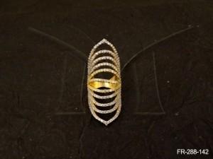 Ad Jewellery , Long Sharp Style Layeredad Finger Rings | Manek Ratna