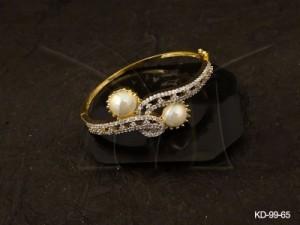 Ad Jewellery , Moti Knought Twisted Style Ad Kada | Manek Ratna