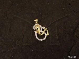 Ad Jewellery , Ohm Ganesh Ji Attached Ad Pendants | Manek Ratna