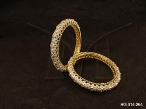 Ad Jewellery , Paan Polo Textured Ad Jewellery Bangles | Manek Ratna