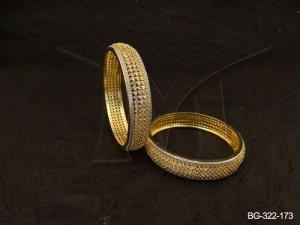 Ad Jewellery , Polo Textured Ad Jewellery Bangles | Manek Ratna