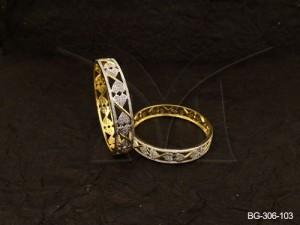 Ad Jewellery , Reverse End Heart Style Ad Bangles | Manek Ratna