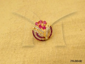 Ad Jewellery , Round Small Beaded Stripped Ad Finger Ring | Manek Ratna