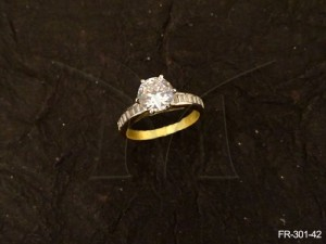 Ad Jewellery , Round Stone Delicate Ad Finger Rings | Manek Ratna