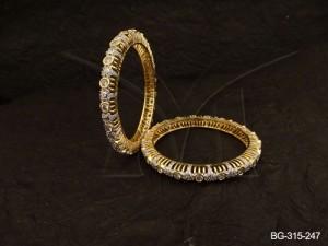 Ad Jewellery , Round Textured Ad Jewellery Bangles | Manek Ratna