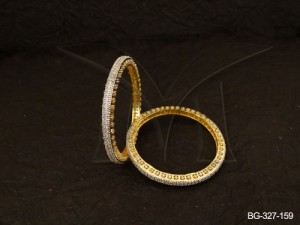 Ad Jewellery , Simple Broad Style Party Wear Ad Bangles | Manek Ratna