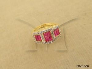 Ad Jewellery , Square Checks Segmented Broad Ad Finger Rings | Manek Ratna
