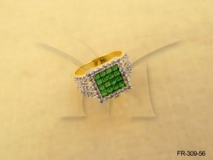 Ad Jewellery , Square Checks Stylish Broad Ad Finger Rings | Manek Ratna
