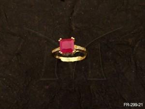 Ad Jewellery , Square Nagina Stone Ad Finger Rings | Manek Ratna