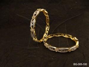 Ad Jewellery , Triangular Wrap Layered Punjabi Dress Ad Bangles | Manek Ratna