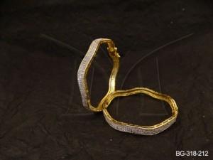 Ad Jewellery , Uneven Surface Ad Jewellery Bangles | Manek Ratna