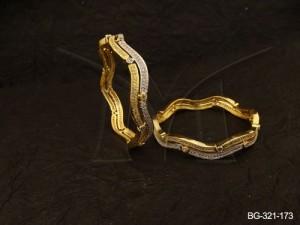 Ad Jewellery , Wavy Style Ad Jewellery Bangles | Manek Ratna
