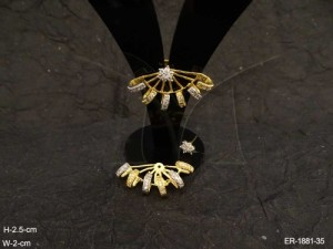 Ad Jewellery , Ankle Wrapped Cuff Ad Earrings | Manek Ratna
