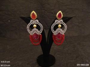 Ad Jewellery , Apple Designed Moti Beaded Ad Earrings | Manek Ratna