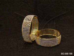 Ad Jewellery , Checks Style Segmented Ad Bangles | Manek Ratna