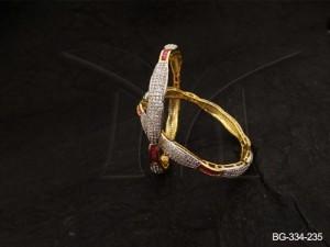 Ad Jewellery , Curled Segmented Wraped Ad Bangles | Manek Ratna