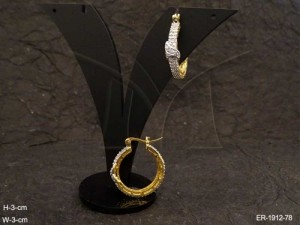 Ad Jewellery , Delicate Bali Style Leaf Wrapped Ad Earrings | Manek Ratna