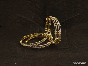 Ad Jewellery , Double Triangle Parallel Style Ad Bangles | Manek Ratna