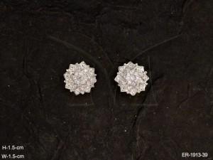 Ad Jewellery , Flower Style Stud Designed Ad Earrings | Manek Ratna