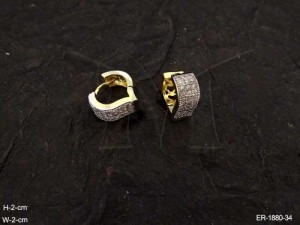 Ad Jewellery , Leaf Shape Style Ad Earrings | Manek Ratna