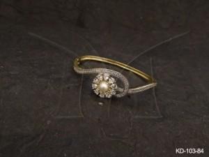 Ad Jewellery , Round Paan Style Wrap Ad Kada | Manek Ratna