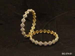 Ad Jewellery , Square Flower Stylish Ad Bangles | Manek Ratna