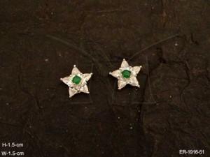 Ad Jewellery , Star Shape Delicate Party Wear Ad Earrings | Manek Ratna